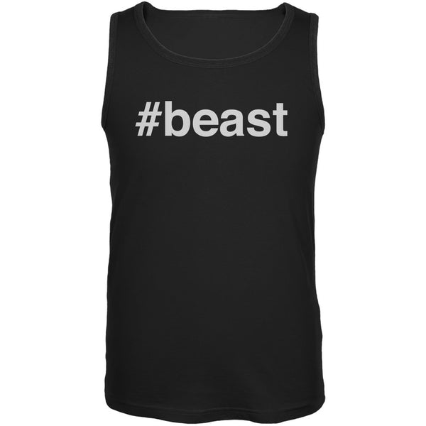 #beast Black Adult Tank Top