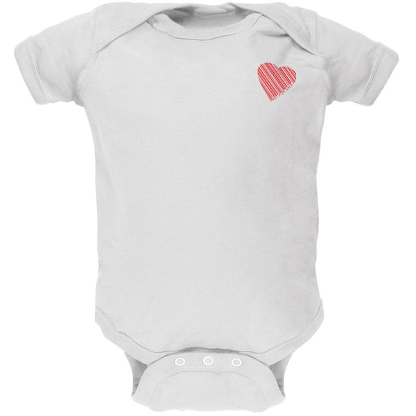Heart Not For Sale White Soft Baby One Piece