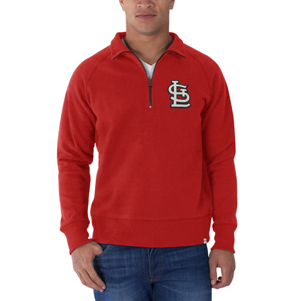 St. Louis Cardinals - Cross Check 1/4 Zip Pullover Sweater