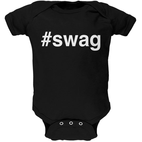 #swag Black Soft Baby One Piece