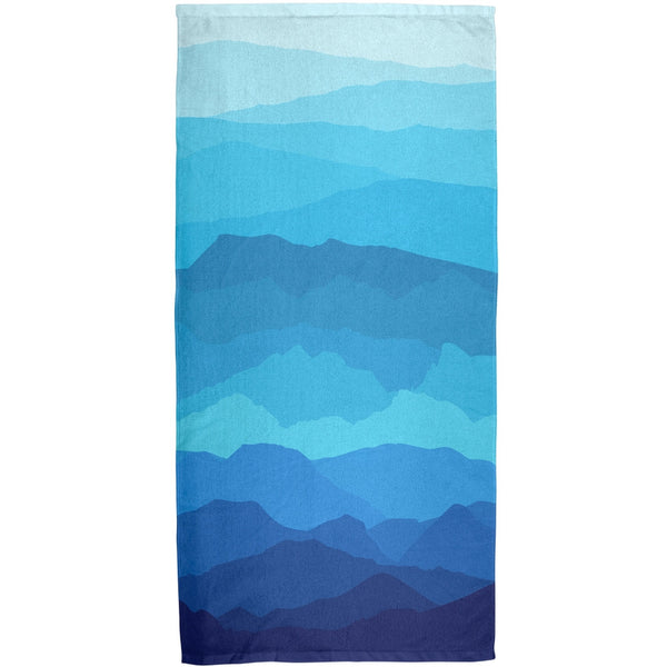 Mountain Range Vista All Over Bath Towel