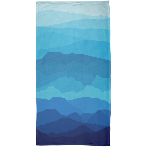 Mountain Range Vista All Over Beach Towel