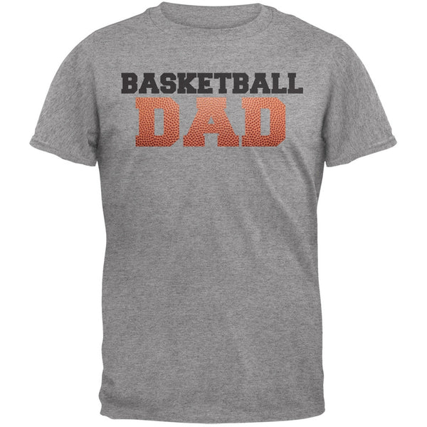 Basketball Dad Light Heather Grey Adult T-Shirt