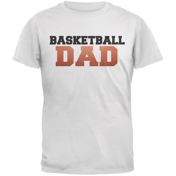 Basketball Dad White Adult T-Shirt