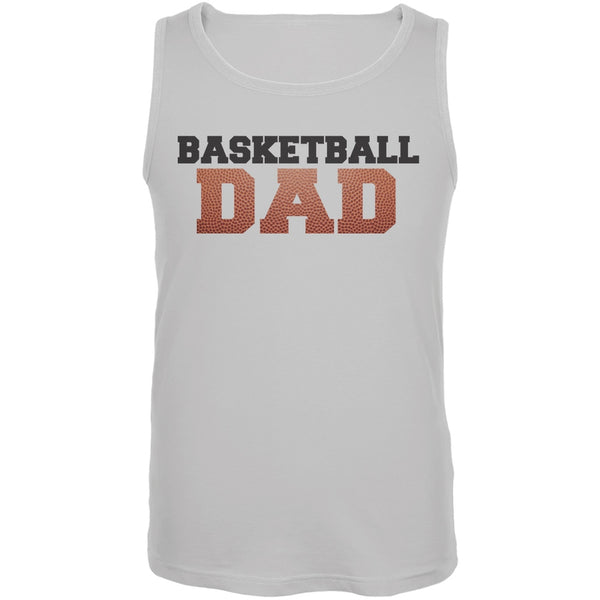Basketball Dad White Adult Tank Top