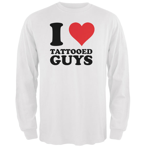 I Heart Tattooed Guys White Adult Long Sleeve T-Shirt