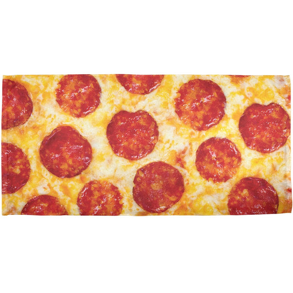 Pepperoni Pizza All Over Bath Towel