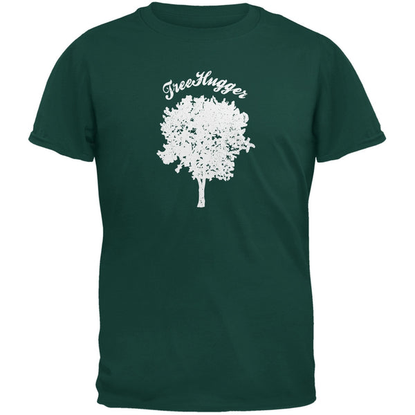 Earth Day - Treehugger Distressed Forest Green Youth T-Shirt