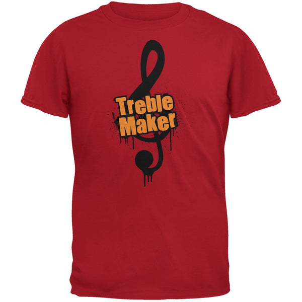 Treble Maker Red Adult T-Shirt