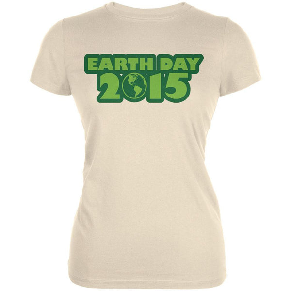 Earth Day - 2015 Cream Juniors Soft T-Shirt