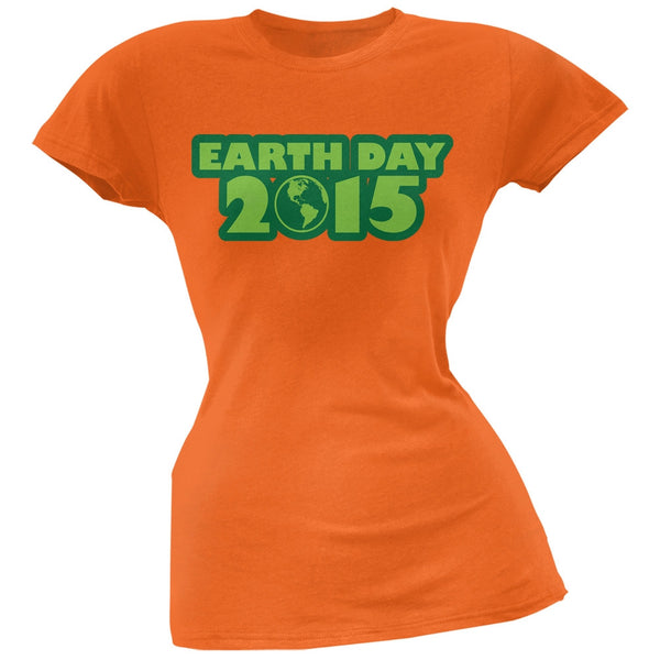 Earth Day - 2015 Orange Juniors Soft T-Shirt