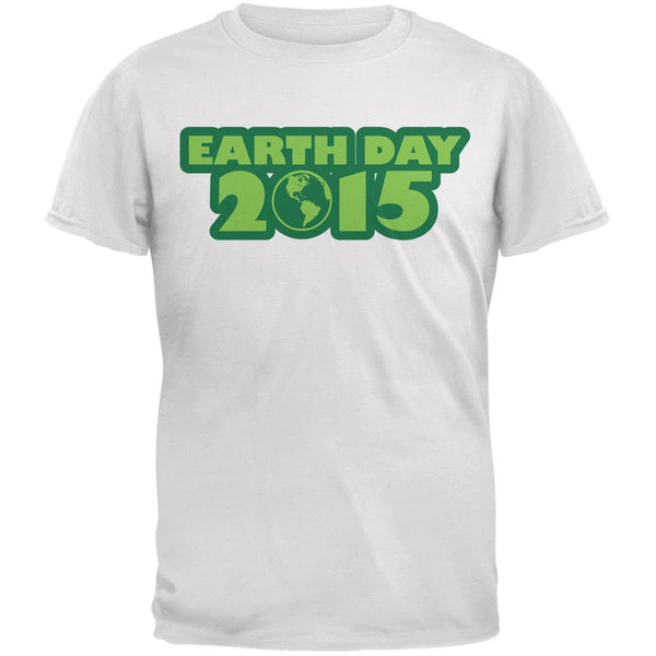 Earth Day - 2015 White Adult T-Shirt
