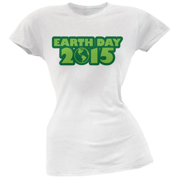Earth Day - 2015 White Juniors Soft T-Shirt