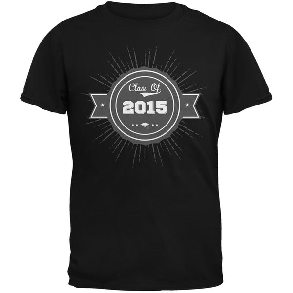2015 Grad Badge Black Adult T-Shirt