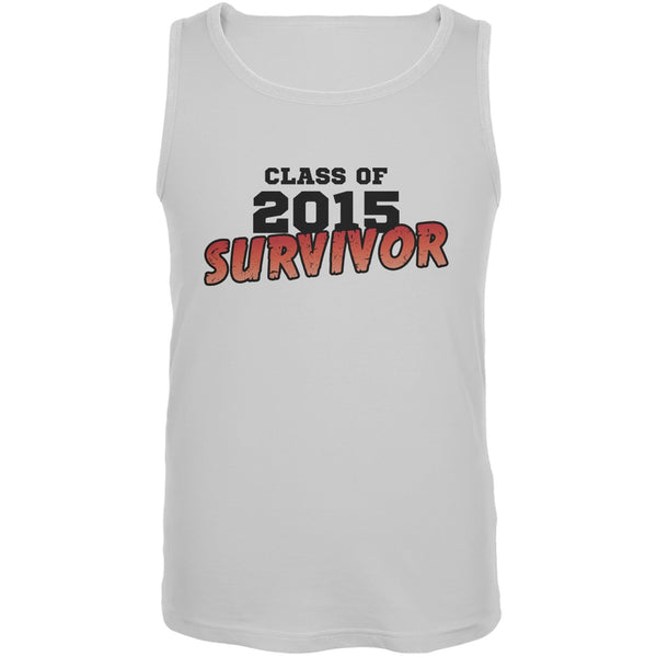 2015 Survivor White Adult Tank Top