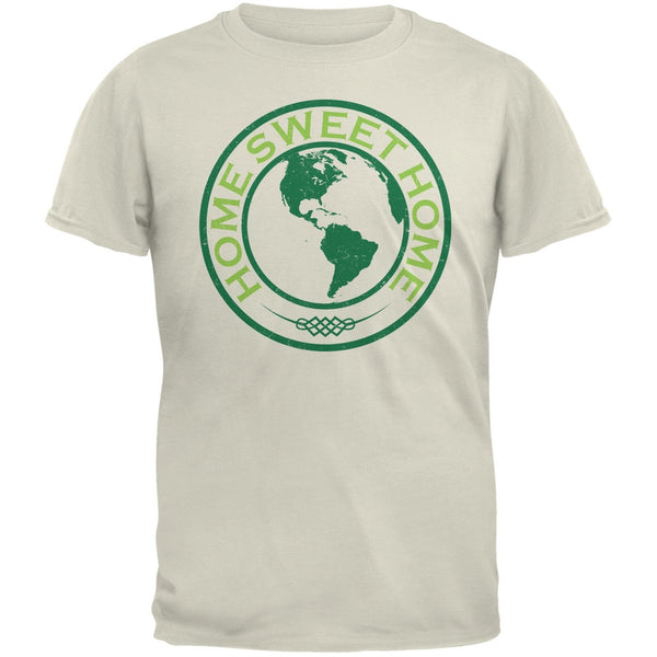 Earth Day - Home Sweet Home Natural Adult T-Shirt