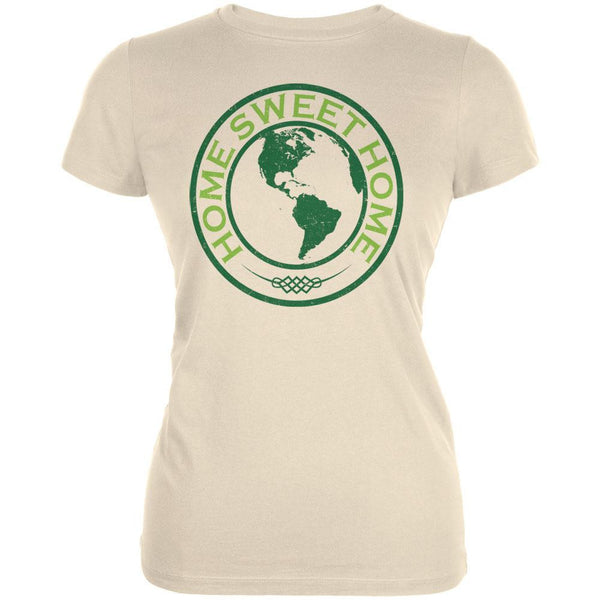 Earth Day - Home Sweet Home Cream Juniors Soft T-Shirt
