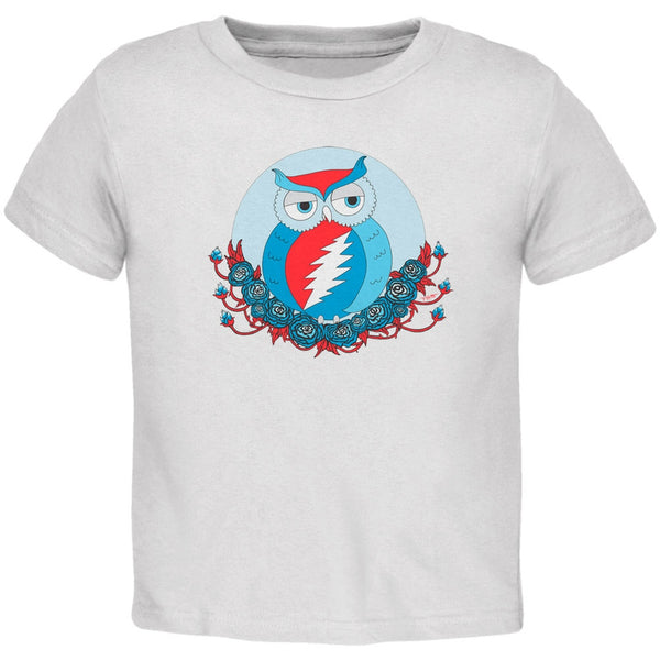Grateful Dead - Steal Your Face Owl White Toddler T-Shirt