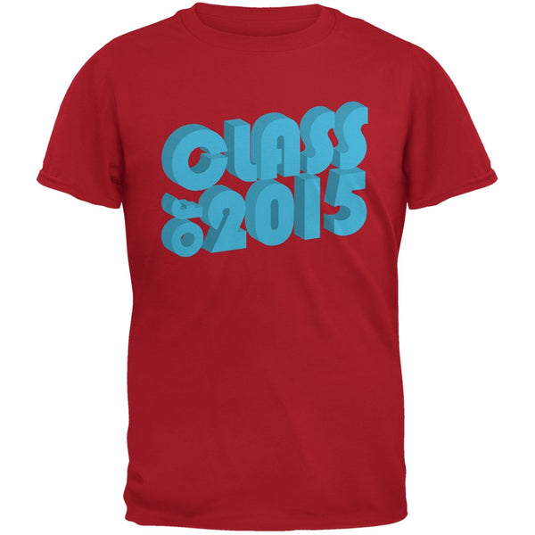 3D 2015 Red Adult T-Shirt
