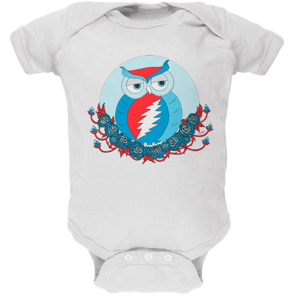 Grateful Dead - Steal Your Face Owl White Baby One Piece