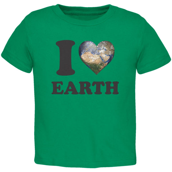 Earth Day - I Heart Earth Kelly Green Toddler T-Shirt