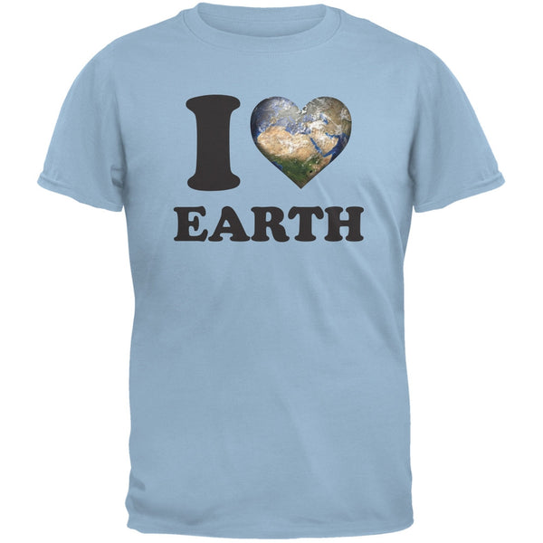 Earth Day - I Heart Earth Light Blue Adult T-Shirt