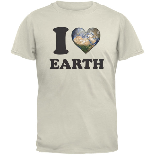 Earth Day - I Heart Earth Natural Adult T-Shirt