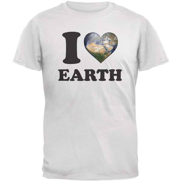 Earth Day - I Heart Earth White Adult T-Shirt