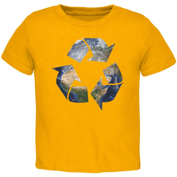 Earth Day - Recycle Earth Gold Toddler T-Shirt