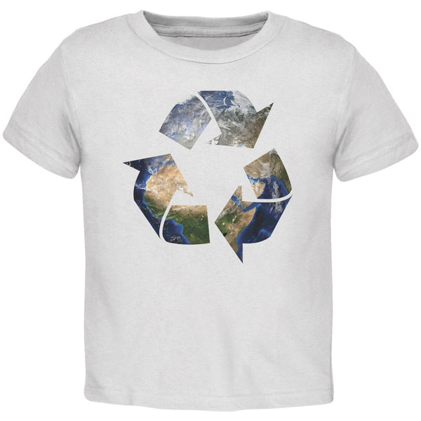 Earth Day - Recycle Earth White Toddler T-Shirt