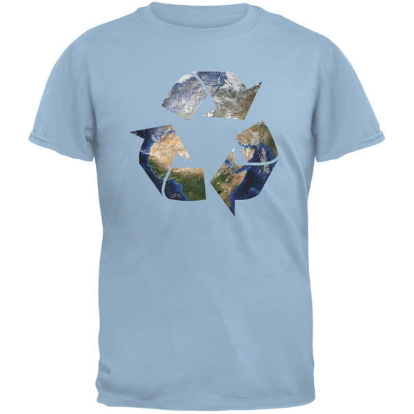 Earth Day - Recycle Earth Light Blue Adult T-Shirt