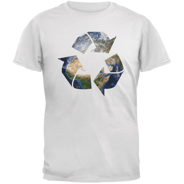 Earth Day - Recycle Earth White Adult T-Shirt