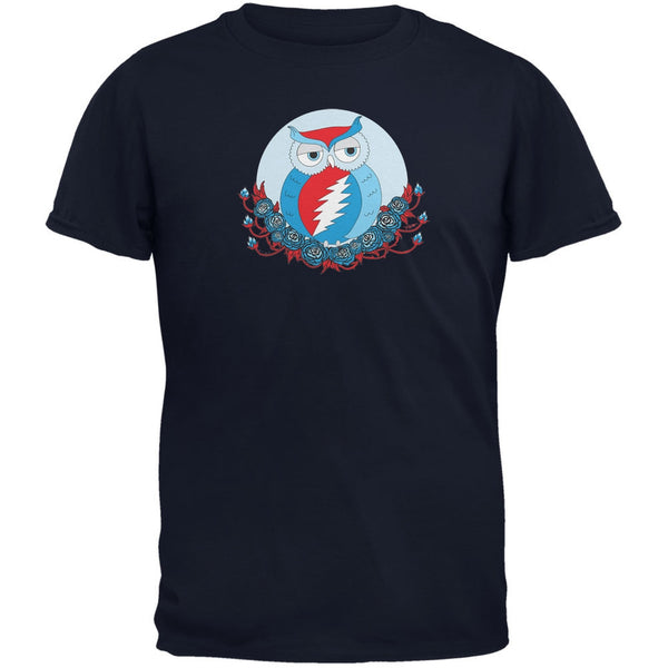 Grateful Dead - Steal Your Face Owl Navy Soft Adult T-Shirt
