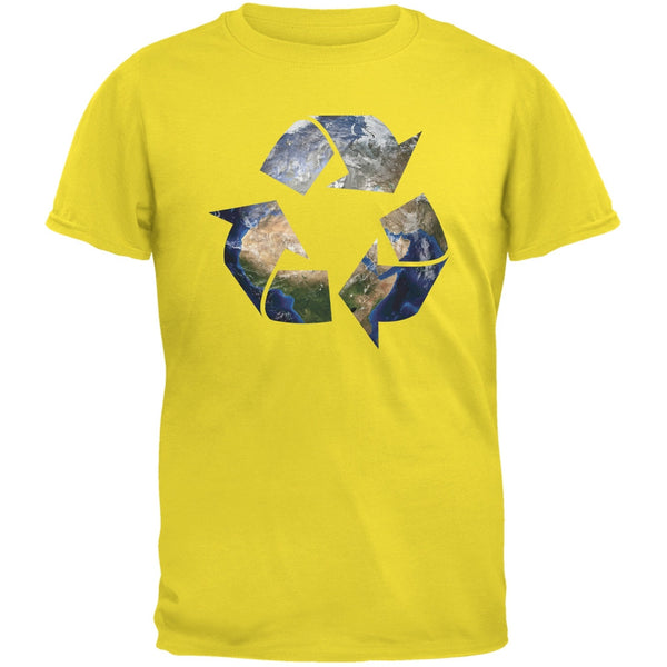 Earth Day - Recycle Earth Yellow Adult T-Shirt