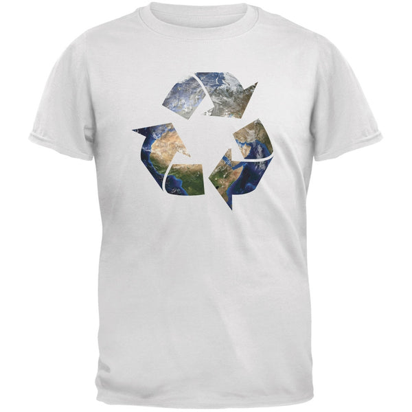 Earth Day - Recycle Earth White Youth T-Shirt