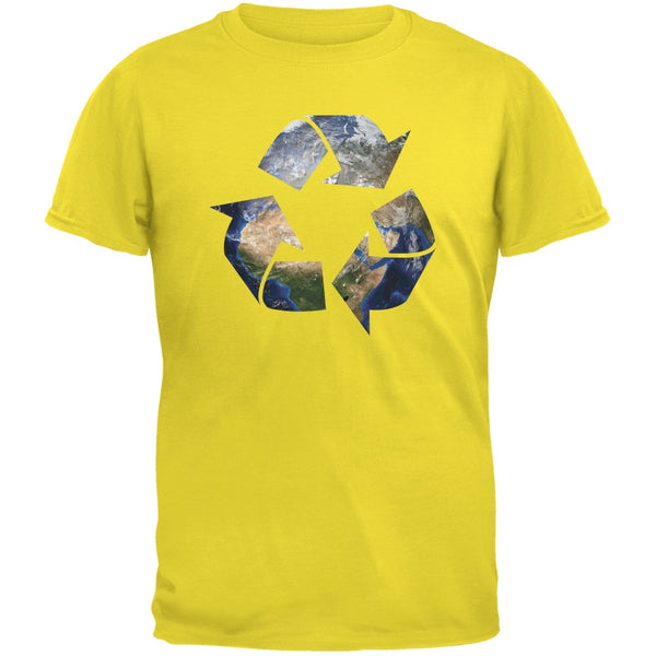 Earth Day - Recycle Earth Yellow Youth T-Shirt
