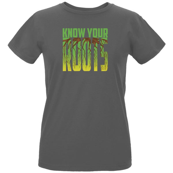 Earth Day - Know Your Roots Women's Organic Charcoal T-Shirt