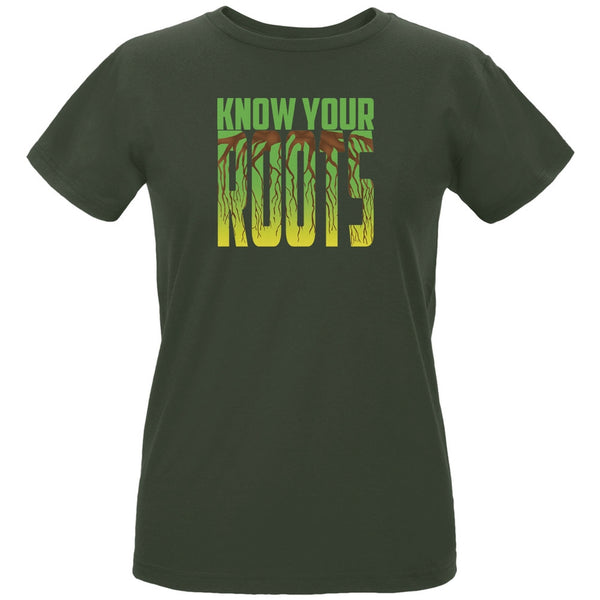 Earth Day - Know Your Roots Women's Organic City Green T-Shirt