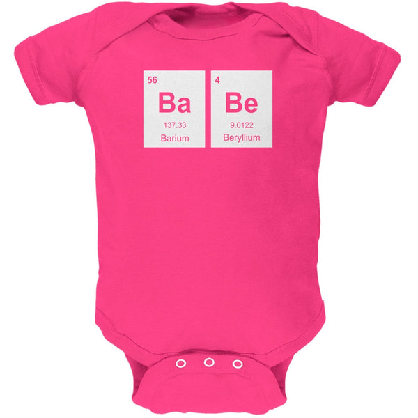 Baby - BaBe Periodic Elements Hot Pink Soft Baby One Piece