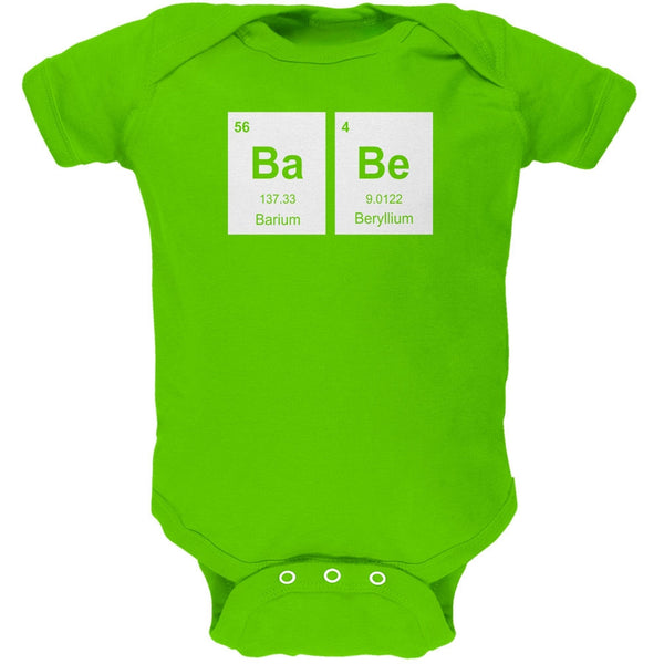 Baby - BaBe Periodic Elements Key Lime Green Soft Baby One Piece