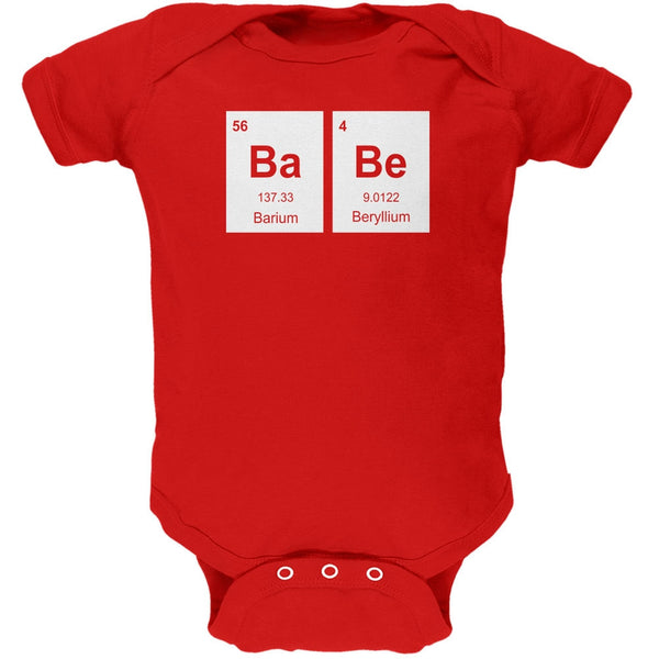 Baby - BaBe Periodic Elements Red Soft Baby One Piece