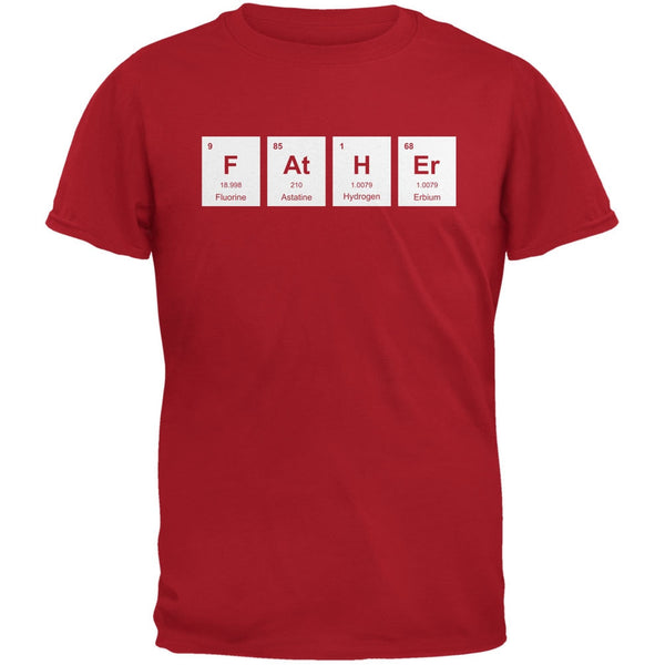 Father's Day - FAtHEr Periodic Elements Red Adult T-Shirt