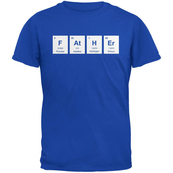 Father's Day - FAtHEr Periodic Elements Royal Adult T-Shirt