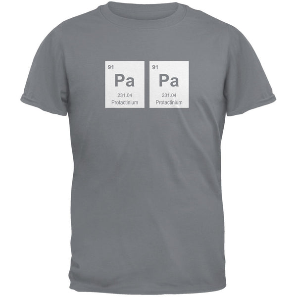 Father's Day - PaPa Periodic Elements Charcoal Grey Adult T-Shirt