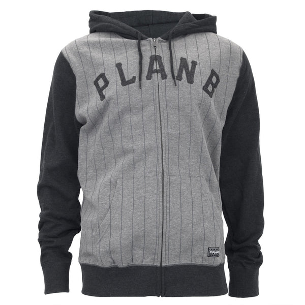 Plan B - Burrough Charcoal Adult Zip-Up Hoodie