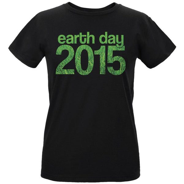 Earth Day - 2015 Grass Women's Organic Black T-Shirt