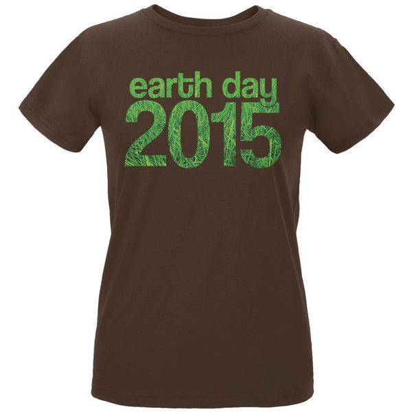 Earth Day - 2015 Grass Women's Organic Chocolate T-Shirt