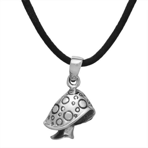 Mushroom Sterling Silver Pendant Necklace