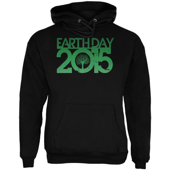 Earth Day - 2015 Tree Black Adult Hoodie