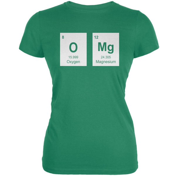 OMg Periodic Elements Kelly Green Juniors Soft T-Shirt
